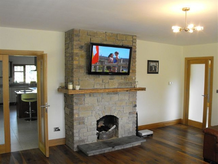 Caragh Two Storey House Fireplace